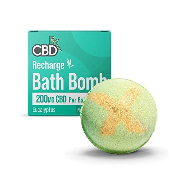 CBDfx Recharge Eucalyptus CBD Oil Bath Bomb – 200mg CBD