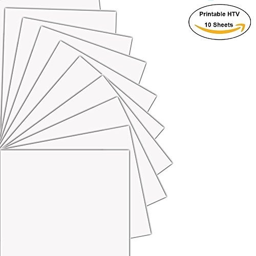 picture relating to Printable Transfers named Printable Warmth Move Vinyl HTV Inkjet Printer Darkish T