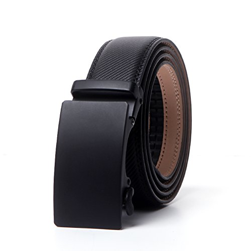 CHAOHONG Men's Black Leather Casual black Leather belt long belts for plus size men belts for men big and tall, Black3, Waist Size-42