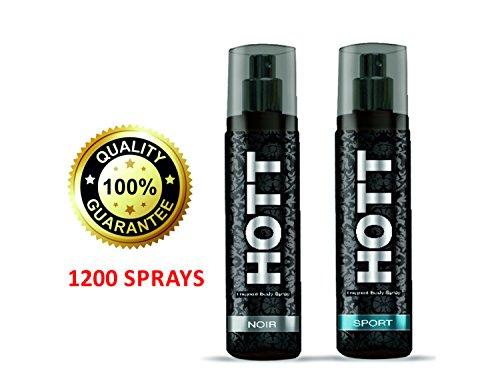 Hott NOIR & SPORT Perfume Combo For Men (1200 Sprays Each)