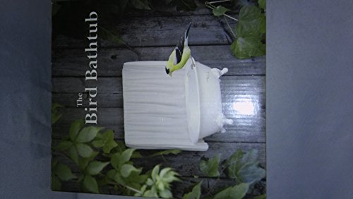 (Caravelle Designs Ivory Hanging Bird Bath Shaped as a Bath Tube with Shower Curtain 7 1/2 inches Tall 6 1/2 inches Wide)