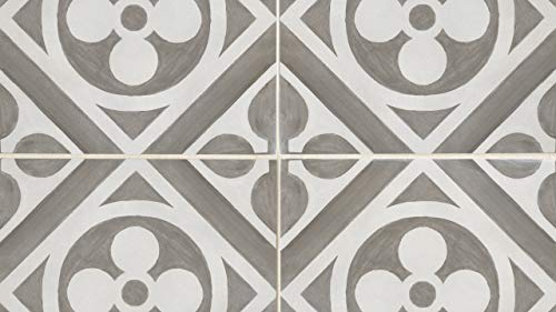 Napoli 12 x 12 Tile in Canvas Smoke, 1 SqFt ()