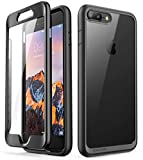 iPhone 8 plus Case,SUPCASE [Unicorn Beetle Style Series] Clear Full-body Rugged Bumper Case with Built-in Screen Protector for iPhone 8 Plus & iPhone 7 Plus (Black)