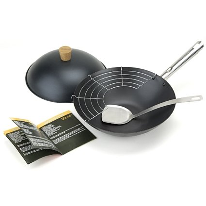 Typhoon Pre-seasoned 12-Inch Wok Set