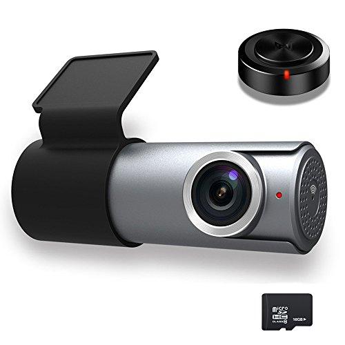 Goluk T1 Smarte AutoKamera Dash-Cam, 1080P HD Wi-Fi Auto DVR Camcorder, 152 Grad Weitwinkel, G-Sensor, Nachtsicht, Unterstützt bis zu 64 GB TF Karte