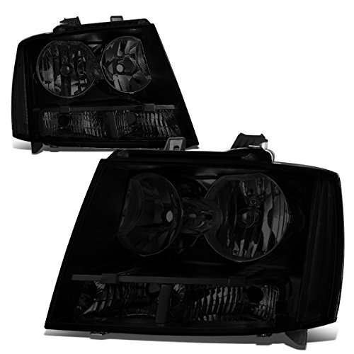DNA Motoring HL-OH-003-SM-CL1 Pair of Headlight Assembly [07-14 Chevy Tahoe / Avalanche / Suburban 1500 2500]