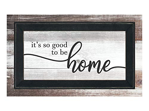 MRC Wood Products It's So Good to Be Home Framed TimberPrintz Pallet Sign 12x20