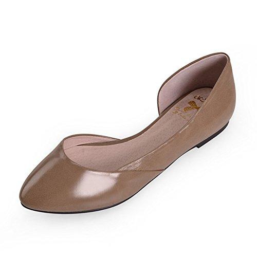 Zapatos de moda de verano/Superficiales plana puntiagudos zapatos/ la primavera y otoño y zapatos de las mujeres de talla grande A