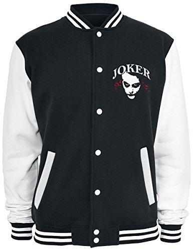 The Joker Why So Serious? Cazadora Tipo Universitario Negro-Blanco negro-blanco