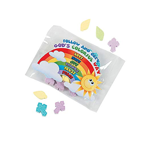 Palm & Cross Candy Fun Packs - Easter & Easter Candy & Chocolate' - 46 Pieces]()
