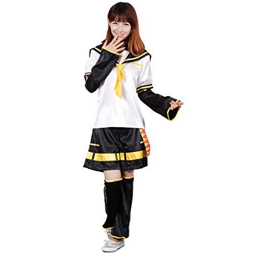 Unisex Vocaloid Kagamine Len Cosplay Costume Set (XL) ()