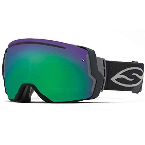Smith Optics I/O7 Vaporator Series Snocross Snowmobile Goggles Eyewear - Black/Green SOL-X/Red Sensor / Medium
