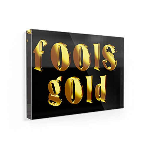 Fridge Magnet Fools Gold Printed Gold looking Lettering - NEONBLOND