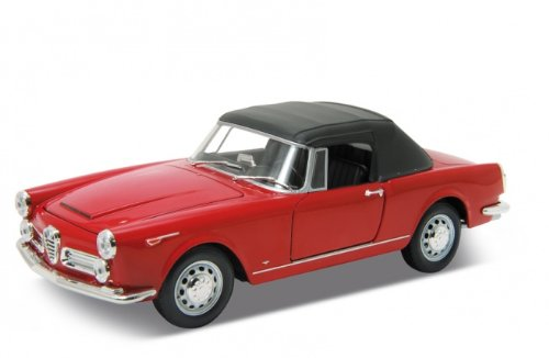 1960-alfa-romeo-spider-2600-soft-top-red-1-24-by-welly-24003hw