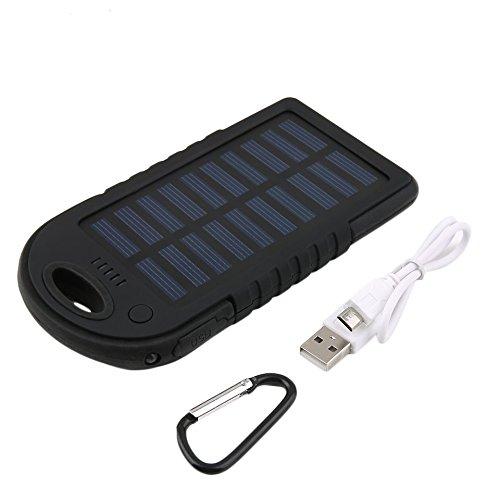 Cargador solar, logicstring 5000 mAh portátil Solar Power Bank ...