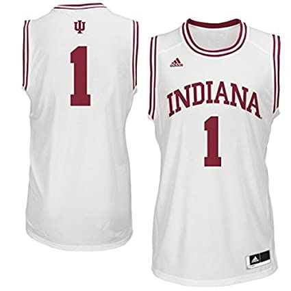be9b6163783 Indiana Hoosiers  1 NCAA Youth Indiana University Basketball Jersey White ( Youth Medium 10