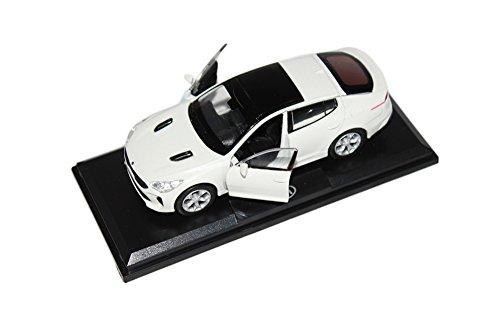 [KIA Brand Collection] 1:38 Scale For KIA 2018+ Stinger Diecast Model MiniAture Car Toy - Snow White Pearl