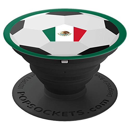 (Flag of Mexico for Soccer Football & Futbol Lover PACJ3710 - PopSockets Grip and Stand for Phones and Tablets)