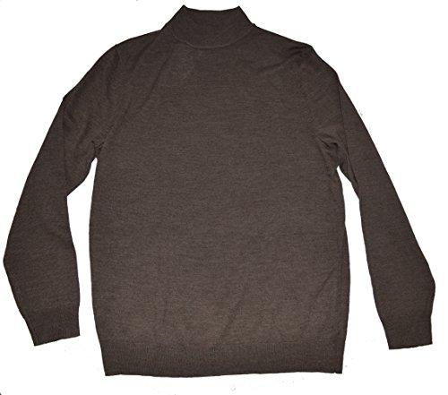 Merino Wool Blend Sweater (Club Room Men's Mock Neck Pullover Estate Merino Wool Blend Sweater (Medium, Brown))