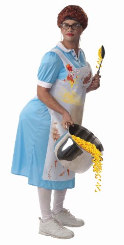 Forum Novelties Mildred The Lunch Lady Costume, Blue, One Size (2)