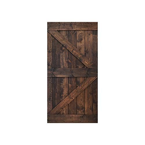 42inX84in K Series Kona Coffee DIY Solid Interior Knotty Wood Painted Barn Door