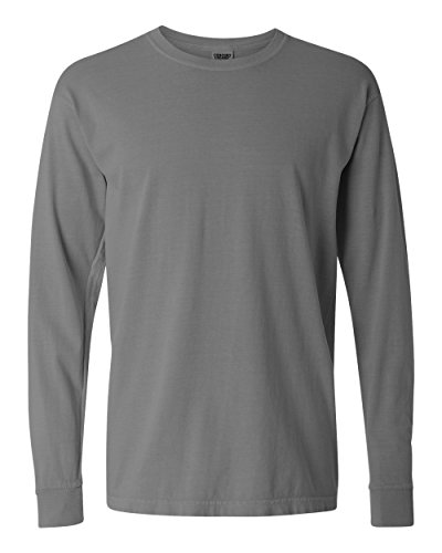 Comfort Colors Ringspun Garment-Dyed Long-Sleeve T-Shirt (C6014)- GREY,