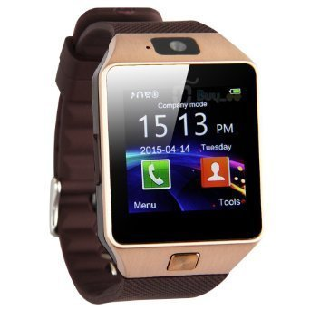DZ09 Smartwatch Heartrate Test Bluetooth Smart Watch Wristwatch Smartwatch with Pedometer Anti-lost Camera for Iphone Samsung Huawei Android Phones by Heshi Inc (Golden)