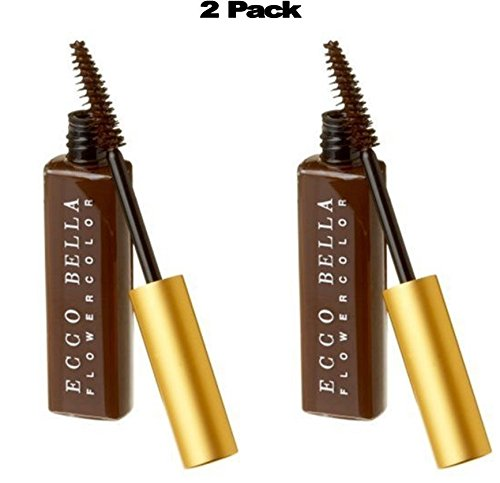 Ecco Bella FlowerColor Mascara, Brown .38 Ounce (Pack of 2)
