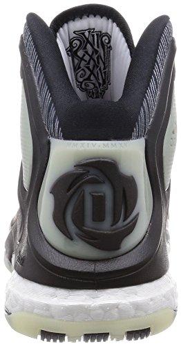 adidas D ROSE 5 BOOST schwarz/weiß/rot
