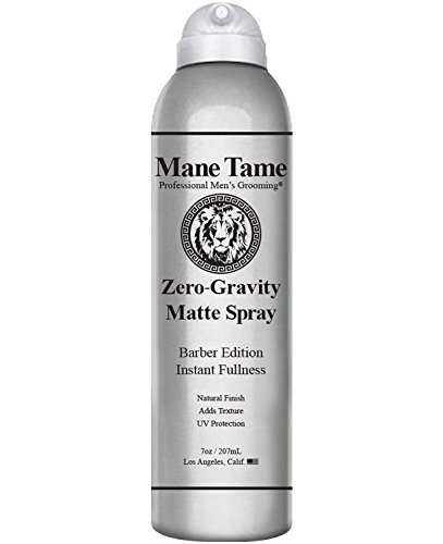 Mane Tame Zero-Gravity Matte Spray 7oz - Barber Edition: Adds Instant Fullness, Volume, Texture and UV Protection. Hair Thickener, Best used as a Styling Spray with a Matte Finish