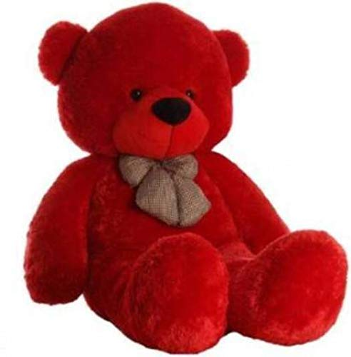 Sky Love Teddy Bear Birthday Gifts Lovable Special Gift 3 Feet  91 cm    Red