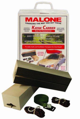 Malone Standard Foam Block Universal Car Top Kayak Carrier Kit (Block Kayak Malone)