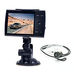 Stoga 2.7 Inch rotatable Screen Dual Camera Car DVR with GPS Logger and GPS Sensor Night Vision
