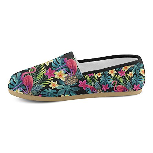 InterestPrint Rock and Roll music hipster Loafers Casual Shoes for Women Tropical Watercolor Y7H2AN