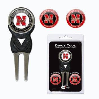 Universidad de Nebraska Golf arreglapiques W/Tres Bola de doble cara m