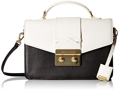 Juicy Couture Black Label Color-Mixing Top-Handle Cross-Body Bag with Envelop Flap
