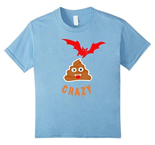Kids Bat Poop Emoji Crazy Halloween T-Shirt Funny 8 Baby Blue (Crazy 8 Halloween 2017)