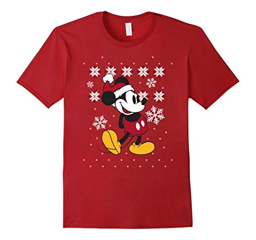 Mens Disney Mickey Mouse Christmas Sweater Pose T Shirt