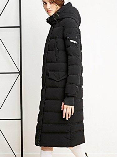 Confortable Pour Parka Noir Duvet Bosideng Encapuchonné En Et Protecteur Femmes p7gWqx