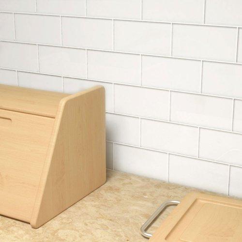 White Subway Tile Backsplash Amazoncom - 6 x 18 white subway tile