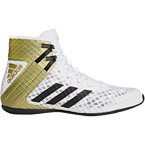 Boots Shoes Trainers (adidas Speedtex 16.1 Mens Boxing Trainer Shoe Boot White/Gold - US 9.5)