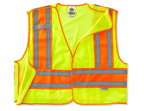 GloWear ANSI High Visibility Lime Breakaway Public Safety Vest, 6XL/7XL