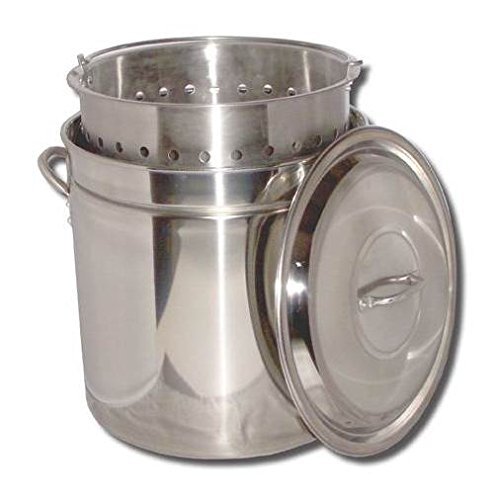King Kooker KK44SR Ridged Stainless Steel Pot, 44-Quart by King Kooker