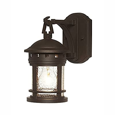 "Designers Fountain 2370-ORB 5"" Sedona Wall Lanterns, Oil Rubbed Bronze - Traditional Uses Medium Base Bulb UL/CUL and Wet Rated - patio, outdoor-lights, outdoor-decor - 41B%2BtGP93UL. SS400  -"