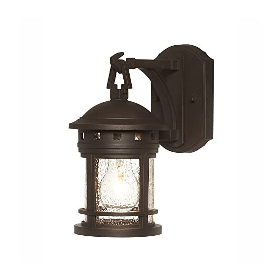 """Designers Fountain 2370-ORB 5"""" Sedona Wall Lanterns, Oil Rubbed Bronze - Traditional Uses Medium Base Bulb UL/CUL and Wet Rated - patio, outdoor-lights, outdoor-decor - 41B%2BtGP93UL. SS570  -"""