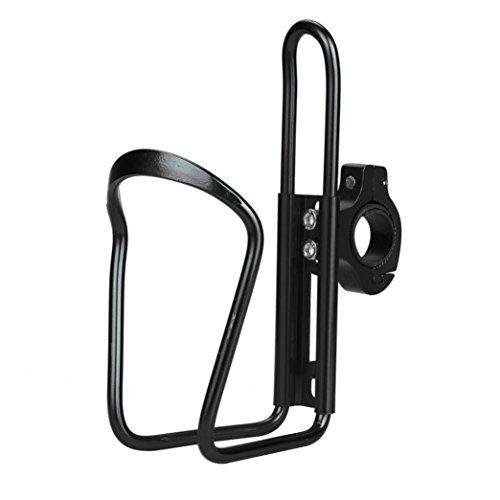 Water Bottle Cages, Inkach Cycling Bike Bicycle Aluminum Alloy Handlebar Water Bottle Holder Rack Kit (Black 1)