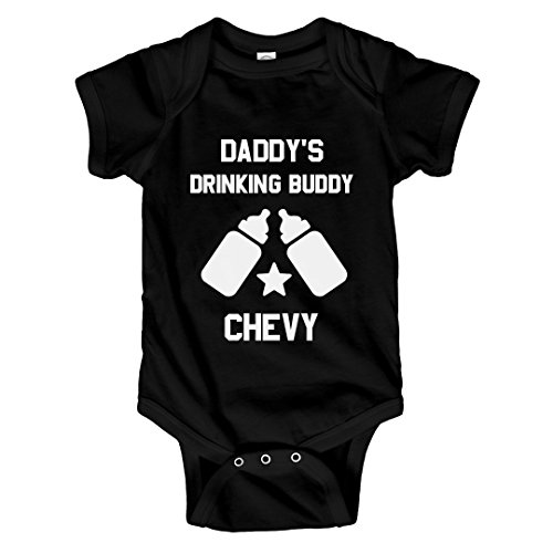Daddy's Drinking Buddy Chevy: Infant Rabbit Skins Lap Shoulder Creeper -