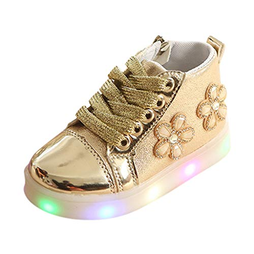 Vielone_Lumi Toddler Kids Boys Girls High Top LED Sneakers Metallic Ankle Boots Light up Tennis Shoes Luminous Walking Shoes Flashing Hiking Boots for Outdoor Sports