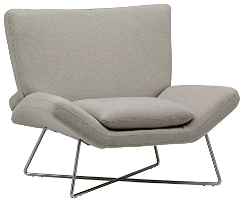 Rivet Farr Lotus Mid-Century Modern Accent Lounge Chair, 39.8'W, Felt Grey ()