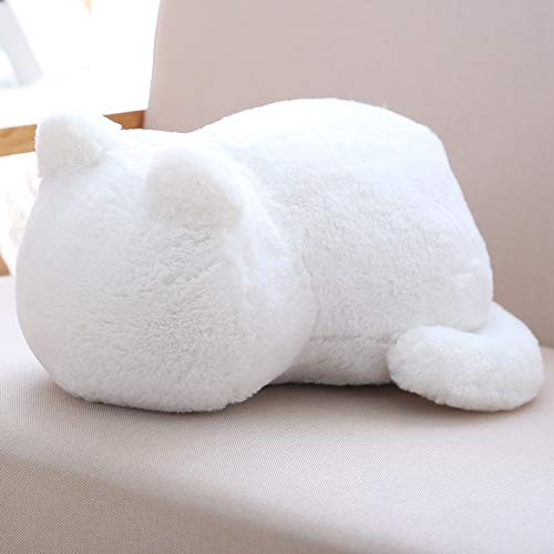 (Car Accessories M and F 1PC Cat Plush Cushions Pillow Back Shadow Cat Filled Animal Pillow Toys Color White )